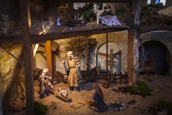 Bel n realizado en las navidades del 2012 en la parooquia - Portal de belen pinypon ...